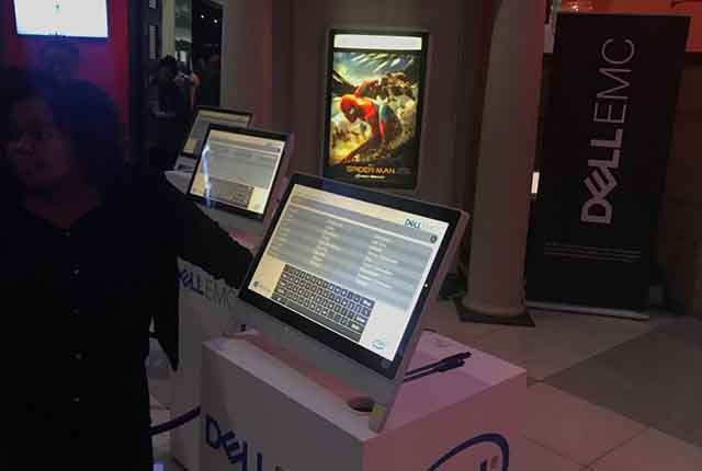 Dell EMC showcase their range of devices at the pre-screening of Spiderman: Homecoming